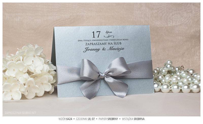 zaproszenia-slubne-ze-wstążką-wzór-24