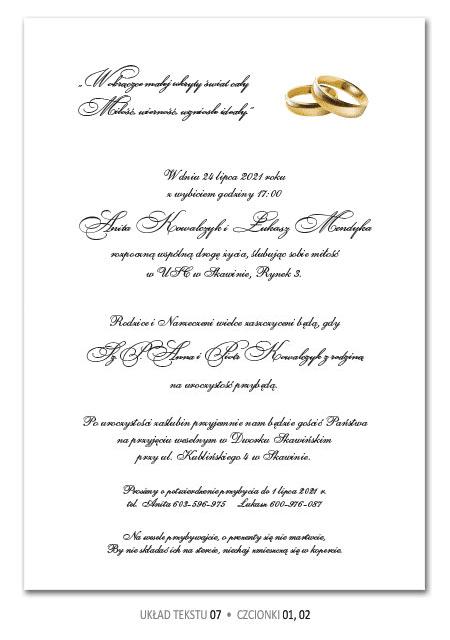 zaproszenia ślubne teksty